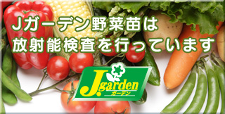 Jガーデン野菜苗は放射能検査を行っています
